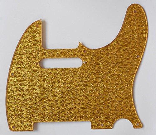 (KAISH Gold Sparkle Plastic Standard 8 Hole Tele Scratch Plate Pickguard for Telecaster)