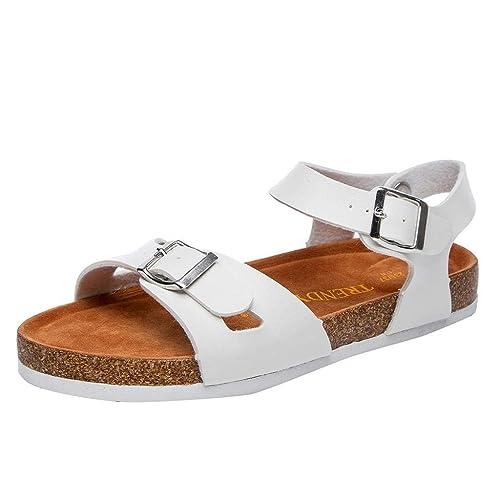 5b1cb01f009 QUICKLYLY Sandalias Mujer Planas Plataforma Vestir Chanclas Planos Zapatos  Baño Tacón Fiesta Primavera Verano 2018
