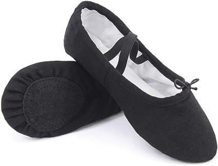 Amazon.com: Girls Canvas Ballet Shoes