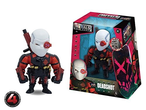 "NEW JADA SUICIDE SQUAD MOVIE VERSION - 4"" Metal DieCast (Die-Cast) THE DEADSHOT Action Figures By Jada Toys"