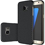 Nillkin Synthetic Fiber Carbon Material Clear Texured Unique Style Back Case Cover for Samsung Galaxy S7 Edge -Black
