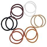 12 Neutral Endless Snag Free Hair Bobbles Elastics Bands Styling Styles By VAGA®