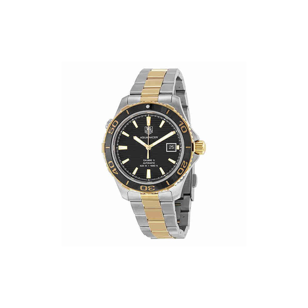 1666baaadbdad Amazon.com: Tag Heuer Aquaracer Automatic Black Dial Two-tone Mens Watch  WAK2122BB0835: Watches