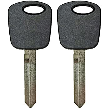CanadaAutomotiveSupply /© 2 New Uncut Replacement 80 Bit Transponder Ignition Car Key for Select 2009 Ford Fusion w//Free DIY Programming Guide