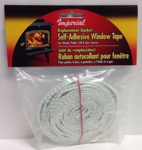 - Imperial GA0009 Replacement Gasket Self-adhesive Wood Firebox Stove Window Tape
