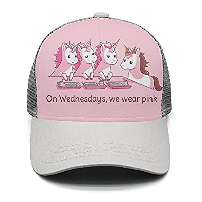 Casual Baseball Cap On wesdnesdays,we wear Pink Classic Adjustable Mesh Visor Hats