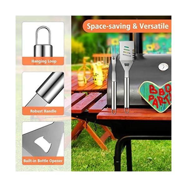Barbecue Utensili insieme di attrezzi 10 pezzi di acciaio inossidabile Barbecue Grilling accessori set con il caso di… 3 spesavip
