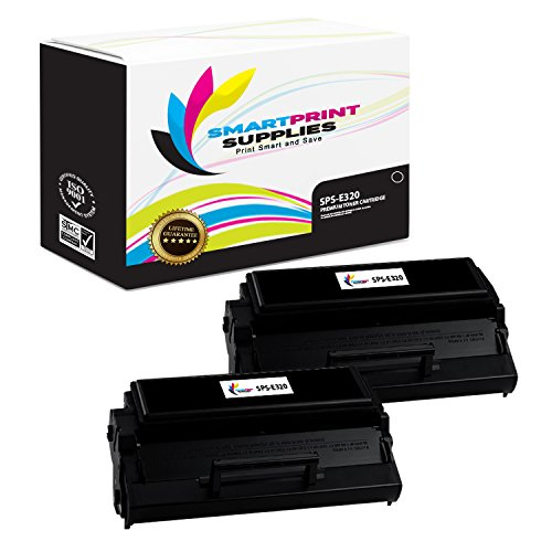 Smart Print Supplies Compatible 08A0477 Black High Yield Toner Cartridge Replacement for Lexmark Optra E320 E322 Printers (6,000 Pages) - 2 Pack