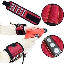 Livoty 5 Magnetic Wristband Pocket Tool Belt Pouch Bag Screws Holding Working Helper-Best Unique Tool Gift for Men, DIY Handyman, Father/Dad, Husband, Boyfriend, Him, Women