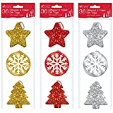 36 x Luxury Or Glitter & Foil Xmas cadeau de Noël Présent