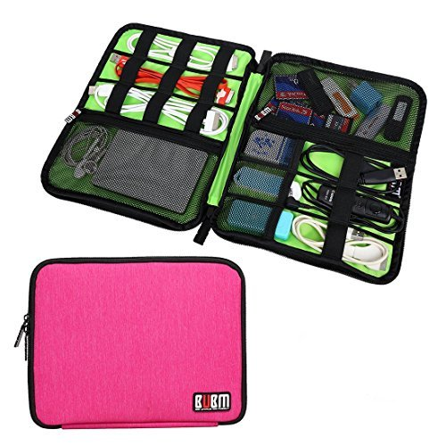 Travel Universal Cable Organizer Electronics Accessories Cases For Various USB, Phone, Charger and Cable by BUBM (Image #1)