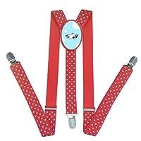Tare Panda Unisex Elastic Adjustable Suspender Y-Back Suspenders for Kid Boys Girls