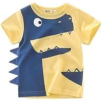 Vannie Children Dinosaur Shark Funny T-Shirt Kids 'Little Tail Tshirt Cartoon Cool Camiseta al Aire Libre Verano Top…