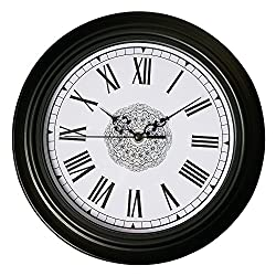Epy Huts Vintage Wall Clock Non Ticking Large Decorative Living Room,Bedrooms Clocks Antiquity European Style Roman Numeral Black 12 Inches …