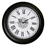 Epy Huts Wall Clock Non Ticking Large Decorative Living Room,Bedrooms Clocks Antiquity European Style Roman Numeral Black 12 Inches … Review