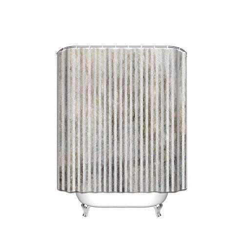 30OFF Nautical White Stripe Design Fabric Shower Curtain Rustic Wood Background 72
