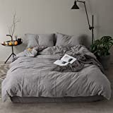 Queen's House Linen Bedding Grey Duvet Cover Custom Made