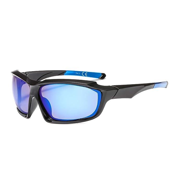 SUERTREE gafas de sol polarizadas deportivas a prueba de viento anteojos hombres Montaña Sombras JH6001