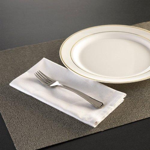 - EMI Yoshi Koyal Glimmerware Salad Forks, 7-Inch, Silver, Set of 600