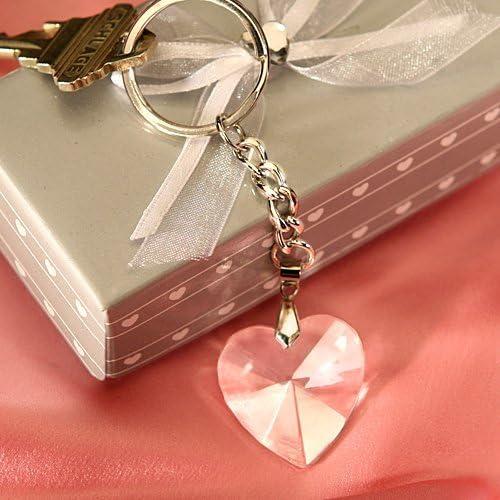 Amazon.com: Clave Cadena de corazón con vidrio cromado (30 ...