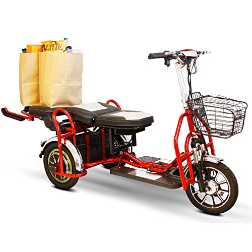 Ewheels folding bariatric scooter in red electric for Fold up scooters motorized