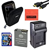 Intermediate Accessory Kit for Nikon Coolpix AW120 P340 S9500 S9700 Digital Camera - Includes ENEL12 Battery & Charger + 16GB SD Memory Card+ Delux