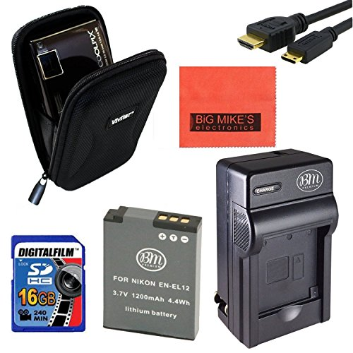 Intermediate Accessory Kit for Nikon Coolpix A900, AW120,...