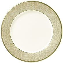 Caspari Entertaining with Moire Dinner Plates, Gold, Pack of 8