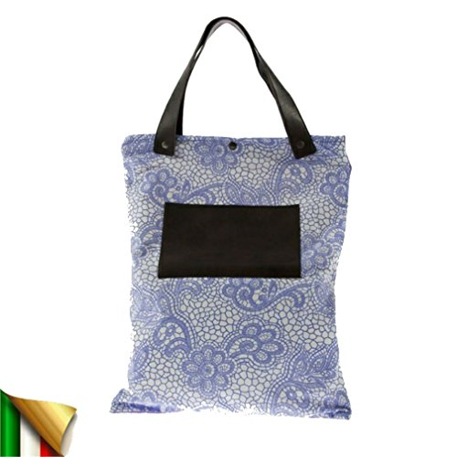 Borsa a mano, Betta multicolore, in tessuto, Made in Italy, dimensioni in cm: 40 L x 50 h