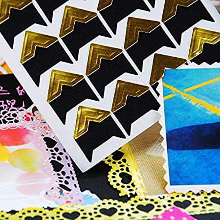 11 Colors Photo Album Photo Stickers Acid Free Photo Mounting Corners Memory Books Picture Corners for Scrapbooking PuTwo Photo Corners 15 Sheets 516 Pieces Photo Corners Self Adhesive
