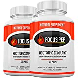 Addrena Focus Pep 2 Pack- Over The Counter Stimulants to Speed Up Naturally: Study Alternative and Best Energy Supplements fo