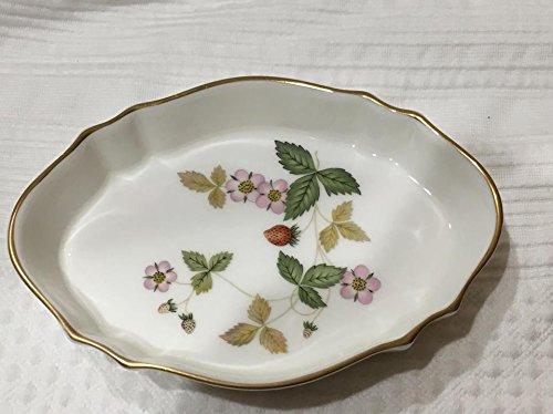 Vintage Wedgewood Bone China Wild Strawberry Ceramic Trinket Dish (5.25
