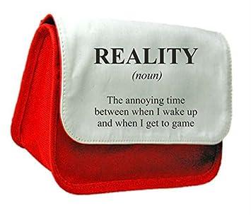 Realidad juegos definición Funny alternativa no en el diccionario embrague bolsa o estuche, color rosso talla única: Amazon.es: Oficina y papelería