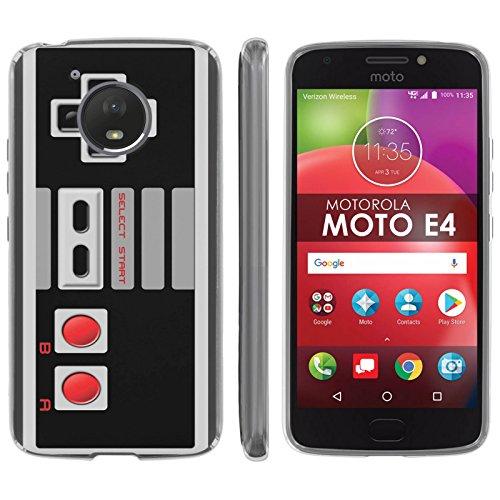 Cheap Motorola Moto E [4th Gen] TPU Silicone Phone Case [Mobiflare] [Clear] Ultraflex Thin Gel Phone Cover – [NES Video Game Controller] for Moto E4 [Moto E 4th Gen] [5″ Screen]