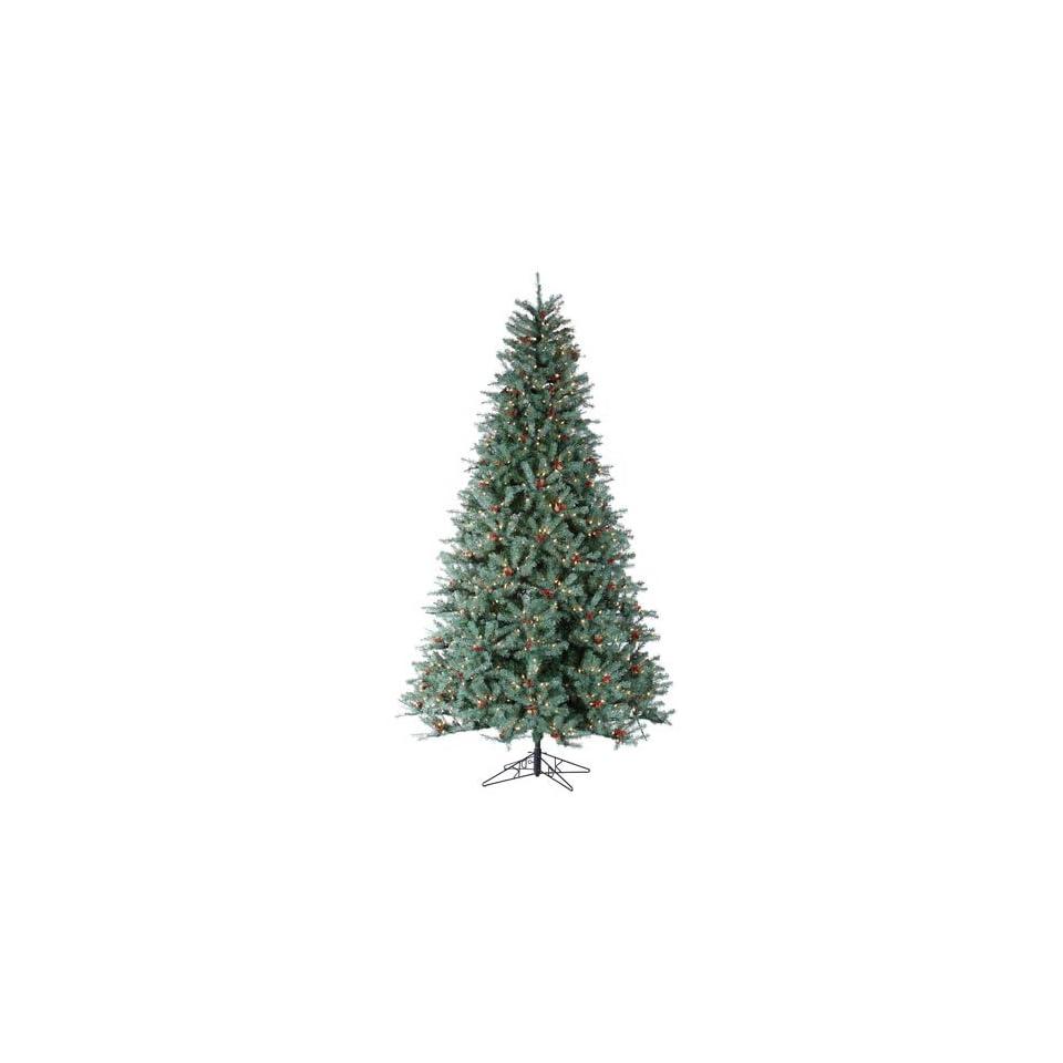 9 Pre Lit New Blue Green Diamond Fir Artificial Christmas Tree   Clear Lights