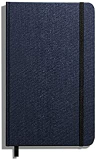product image for Shinola Journal, HardLinen, Grid, Navy (5.25x8.25)