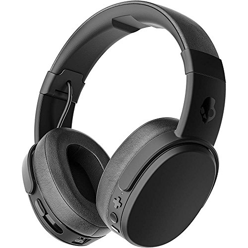 Skullcandy Crusher Bluetooth Wireless Over-Ear Headphone with Microphone, Noise Isolating Memory Foam, Adjustable and Immersive Stereo Haptic Bass, Rapid Charge 40-Hour Battery Life, - Headphones Ear Bluetooth Over