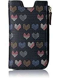 Fossil Rfid Phone Slide Wallet-Hearts
