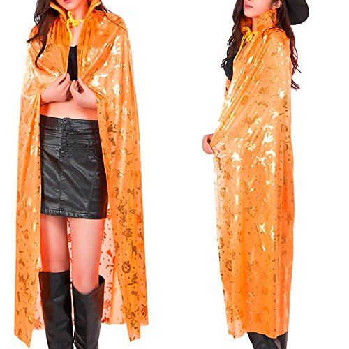 Elf Princess Lord Of The Rings Costume (Hatop 1PC Cos Cloak Coat Wicca Robe Medieval Cape Shawl Halloween Elven Witch Party (Orange))
