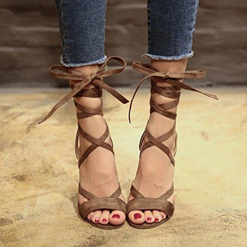 Moda Alti Sandali Donna Scarpe Tacco Eleganti Zeppa Con