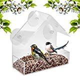 Window Bird Feeder Built to Last A Lifetime Decorate Your House Beautiful Wild Birds 100% Clear Acrylic Plastic 3 Strong Extra Suction Cups Included - Great Gift Idea Nature Lovers