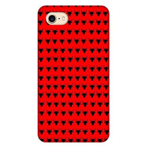 Coque Apple Iphone 7 - Taureaux Fond Rouge