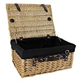 Wicker Picnic Basket with Black Lining
