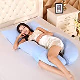 LUOTIANLANG cotton type U ergonomically designed pillow for pregnant women in pregnancy and lactation pillow adjusting detachable multifunctional pillow height,K,Free size
