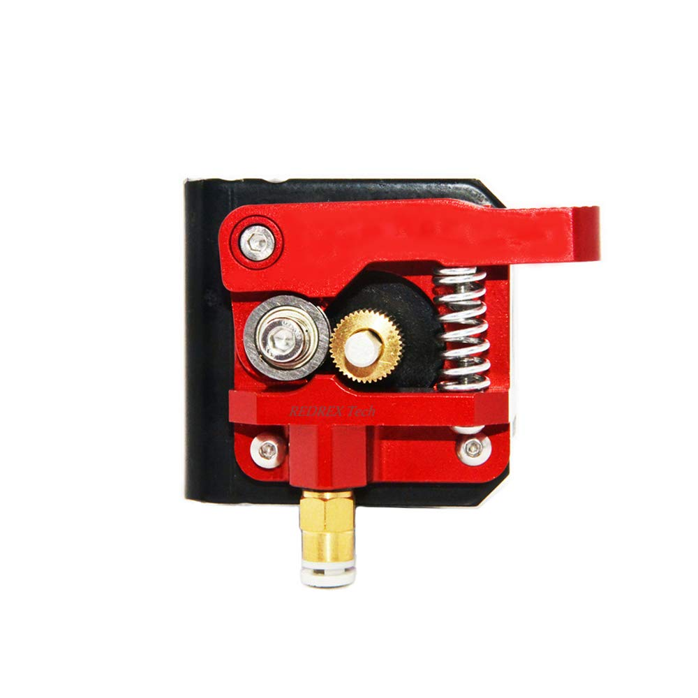 Redrex Upgraded Aluminum Bowden Extruder with 40 Teeth MK8 Drive Gear for Creality CR-10 Series and Other Reprap Prusa 3D Printers [Right Hand]