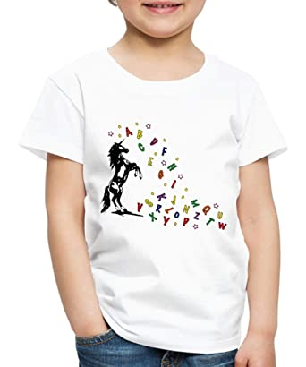 c09ded663a648 Spreadshirt Licorne Alphabet T-Shirt Premium Enfant  Amazon.fr ...
