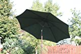9 Foot Decorative Vented Market Umbrella with Crank and Tilt – Forest Green For Sale