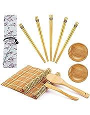 Zestaw do sushi, mata do sushi, 2 rolki, pałeczki do jedzenia 5 par, popielniczka podróżna, łyżka do ryżu, danie z przyprawami, zestaw do sushi