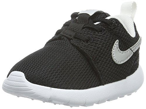 Nike Roshe Run Toddler Sneakers (Black/Metallic Silver-White) Size 5 M US - Metallic Footwear Toddler Silver