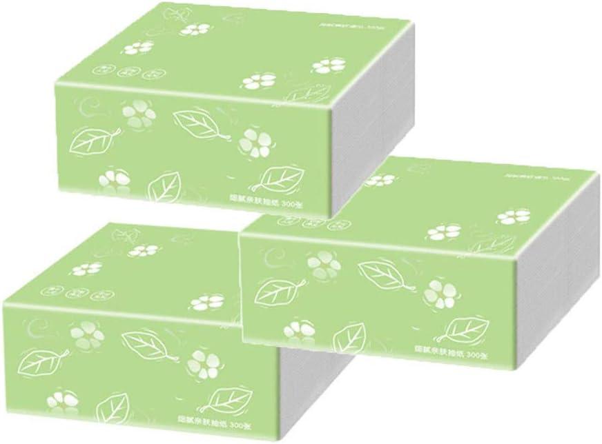 Pack de 3 Taille de Serviette en Papier: 12X18cm Vert,Taille Unique 3 Couches LABIUO Essuie-Mains en Papier Papier Toilette Pli/é